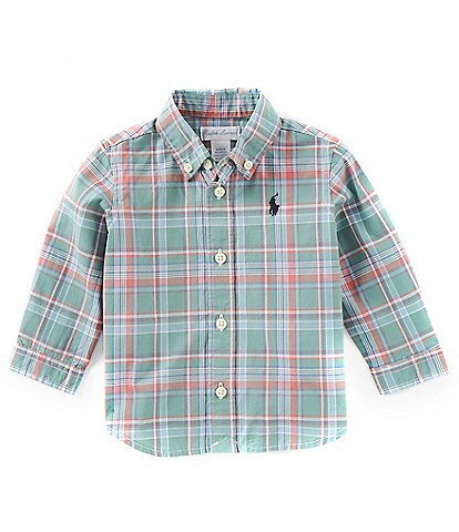 Ralph Lauren Childrenswear Baby Boys 6-24 Months Long-Sleeve Tartan Plaid Poplin Shirt