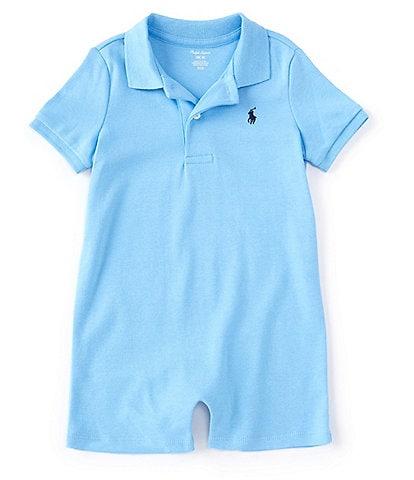 Ralph Lauren Childrenswear Baby Boys 3-24 Months Short-Sleeve Polo Interlock Shortall