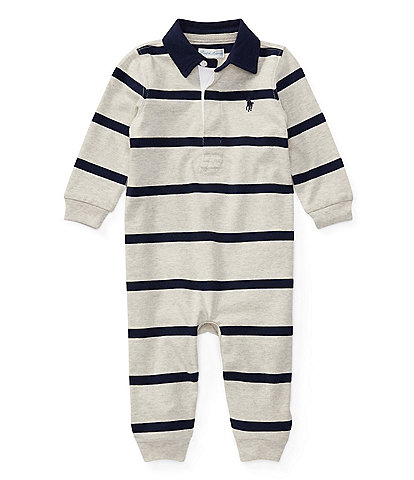 Ralph Lauren Childrenswear Baby Boys 3-9 Months Rugby-Stripe Coveralls