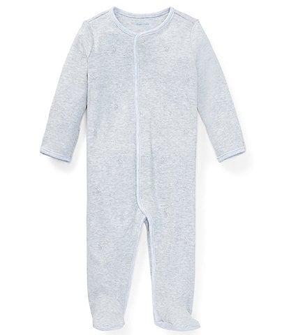 Ralph Lauren Childrenswear Baby Newborn-9 Months Pony Footed Coverall