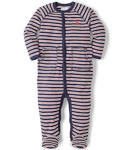 Ralph Lauren Childrenswear Baby Boys Newborn-9 Months Striped Footed Coverall