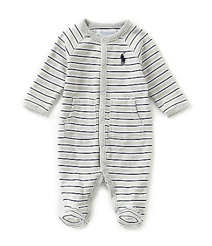 Ralph Lauren Childrenswear Baby Boys Newborn-9 Months Striped Footed Coverall