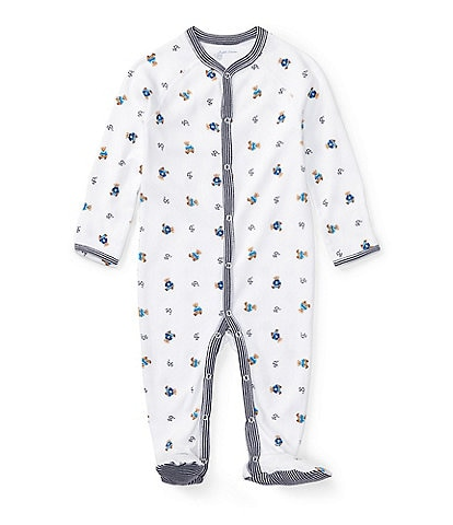 Ralph Lauren Childrenswear Baby Boys Newborn Bear Printed Footed Coverall