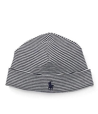 Ralph Lauren Childrenswear Baby Boys Striped Beanie Hat