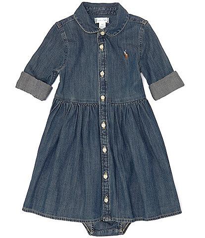 Ralph Lauren Childrenswear Baby Girls 3-24 Months Denim Shirt Dress