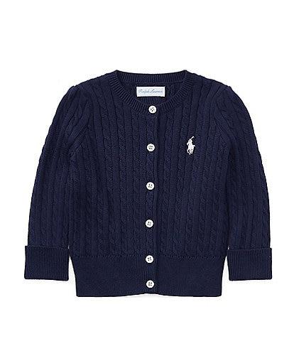 Ralph Lauren Childrenswear Baby Girls 3-24 Months Mini Cable-Knit Cardigan