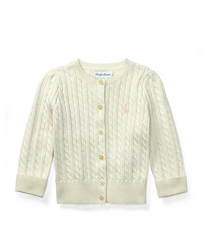 ce4ed0387 Ralph Lauren Childrenswear Baby Girls 3-24 Months Mini Cable-Knit Cardigan