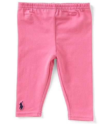 Ralph Lauren Childrenswear Baby Girls 3-24 Months Solid Leggings