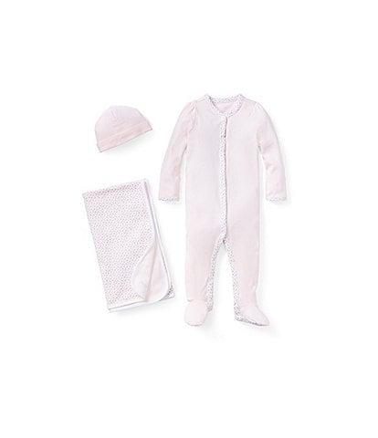 Ralph Lauren Childrenswear Baby Girls Floral Layette Separates Bundle Set