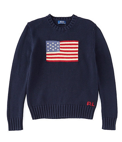 Polo Ralph Lauren Childrenswear Big Boys 8-20 American Flag Sweater