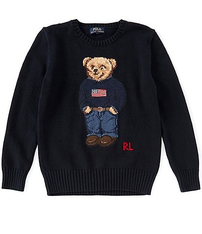 Polo Ralph Lauren Childrenswear Big Boys 8-20 Americana Polo Bear Sweater