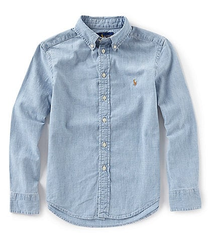 Ralph Lauren Childrenswear Big Boys 8-20 Long-Sleeve Chambray Shirt