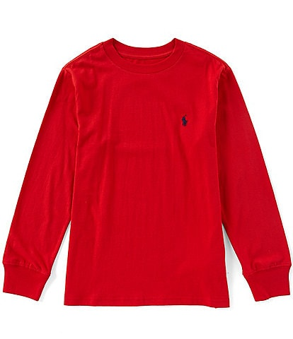 Ralph Lauren Childrenswear Big Boys 8-20 Long Sleeve Jersey T-Shirt