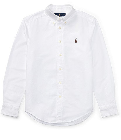 Polo Ralph Lauren Big Boys 8-20 Solid Long-Sleeve Oxford Shirt
