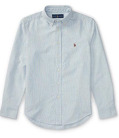 Ralph Lauren Childrenswear Big Boys 8-20 Long-Sleeve Striped Oxford Shirt