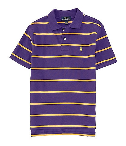 Ralph Lauren Childrenswear Big Boys 8-20 Short-Sleeve Collegiate Striped Mesh Polo Shirt