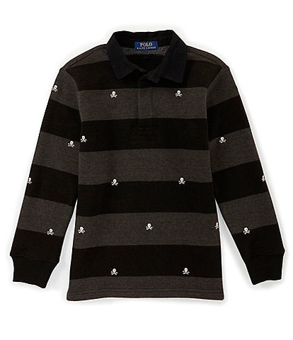 Ralph Lauren Childrenswear Big Boys 8-20 Striped Lightweight Fleece Rubgy Tee