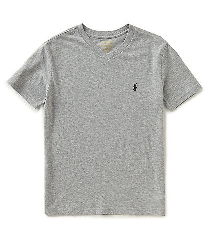 Ralph Lauren Childrenswear Big Boys 8-20 Short-Sleeve Jersey V-Neck Tee