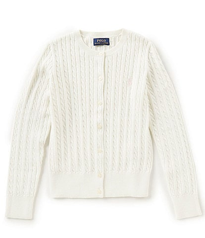 Polo Ralph Lauren Childrenswear Big Girls 7-16 Cardigan Sweater