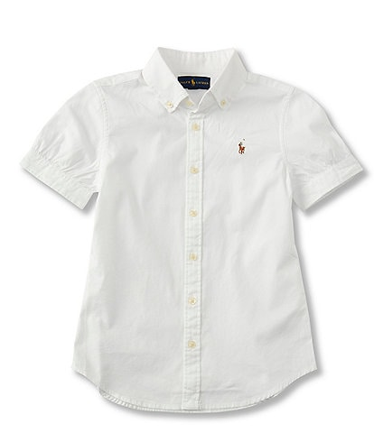 Ralph Lauren Childrenswear Big Girls 7-16 Oxford Button-Down Shirt