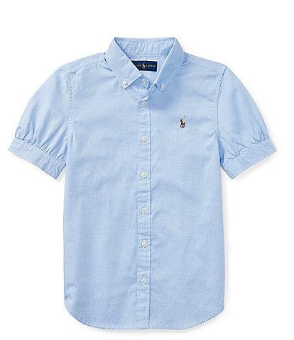 Polo Ralph Lauren Big Girls 7-16 Oxford Button-Down Shirt