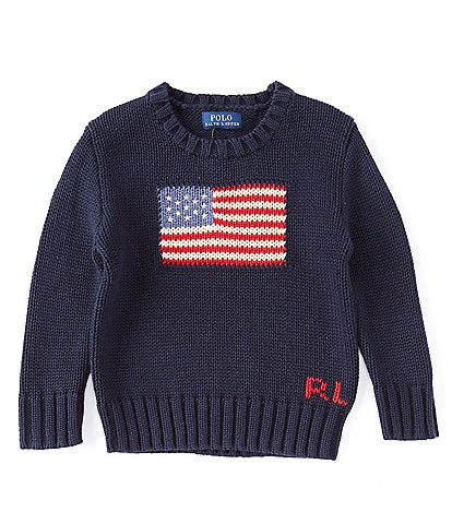 Polo Ralph Lauren Childrenswear Little Boys 2T-7 American Flag Sweater