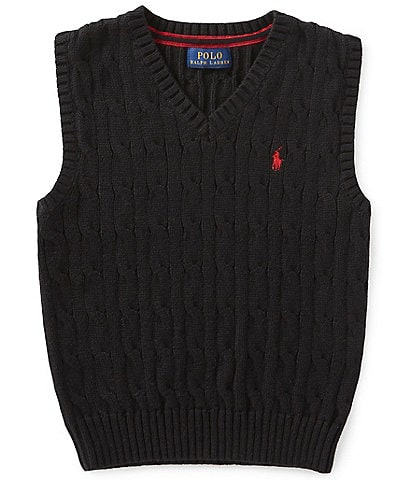 Ralph Lauren Childrenswear Little Boys 2T-7 Cable-Knit Sweater Vest
