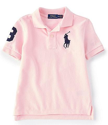 Polo Ralph Lauren Childrenswear Little Boys 2T-7 Oversized Logo Classic Mesh Polo Shirt