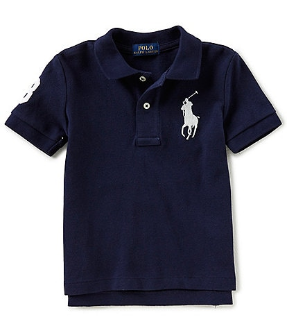 Ralph Lauren Childrenswear Little Boys 2T-7 Oversized Logo Classic Mesh Polo Shirt