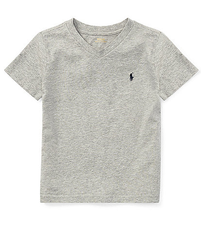 Ralph Lauren Childrenswear Little Boys 2T-7 V-Neck Short-Sleeve Tee