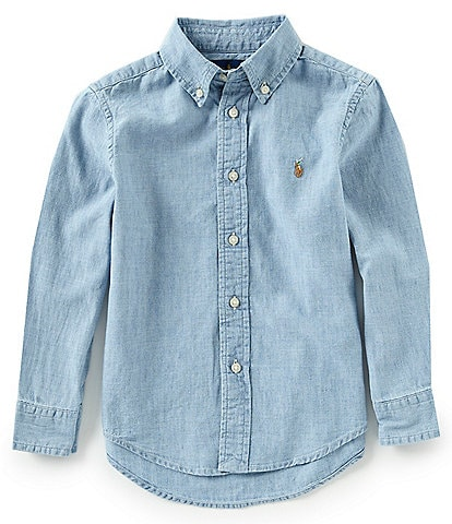 Ralph Lauren Childrenswear Little Boys 2T-7 Long-Sleeve Chambray Shirt
