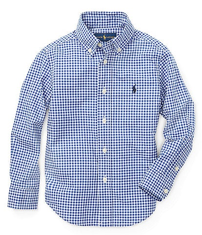Ralph Lauren Childrenswear Little Boys 2T-7 Long-Sleeve Gingham Poplin Shirt