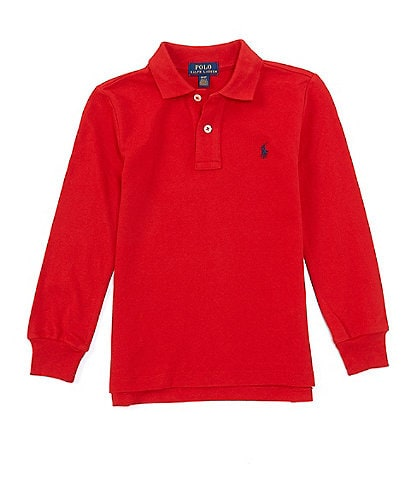Polo Ralph Lauren Childrenswear Little Boys 2T-7 Long-Sleeve Mesh Polo Shirt