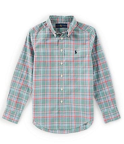 Ralph Lauren Childrenswear Little Boys 2T-7 Long-Sleeve Plaid Poplin Shirt