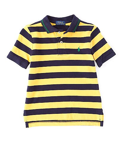 Ralph Lauren Childrenswear Little Boys 2T-7 Short-Sleeve Striped Mesh Polo Shirt