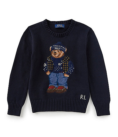 Ralph Lauren Childrenswear Little Boys 2T-7 Winter Bear Wool-Blend Sweater