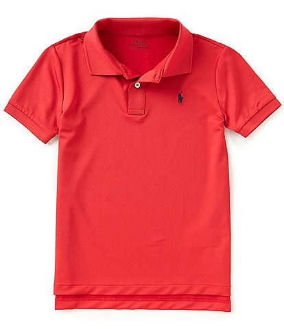 Polo Ralph Lauren Childrenswear Little Boys 2T-7 Lisle Solid Short-Sleeve Polo Shirt