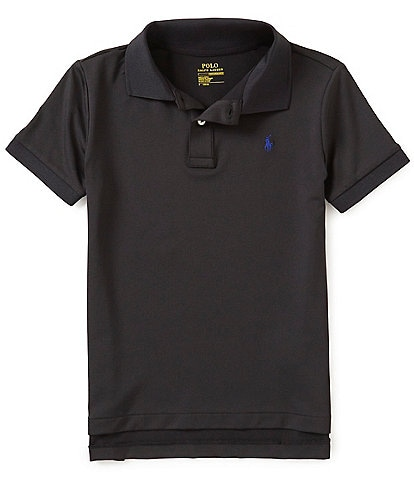 Ralph Lauren Childrenswear Little Boys 2T-7 Lisle Solid Short-Sleeve Polo Shirt