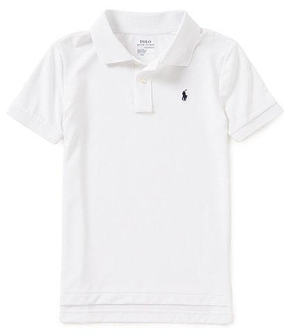 Ralph Lauren Childrenswear Little Boys 2T-7 Lisle Solid Short-Sleeve Polo Shirt