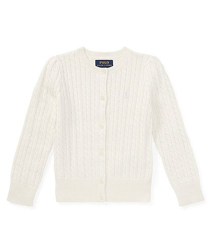 Ralph Lauren Childrenswear Little Girls 2T-6X Cable-Knit Cardigan Sweater