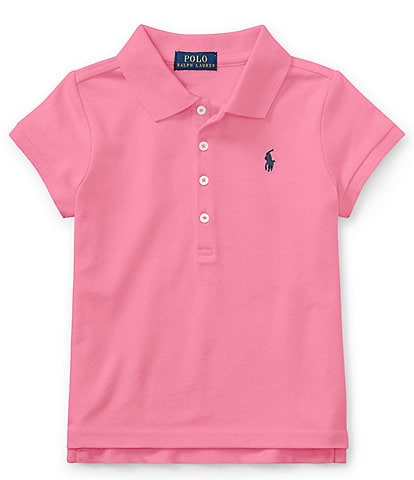 Ralph Lauren Childrenswear Little Girls 2T-6X Mesh Polo Shirt