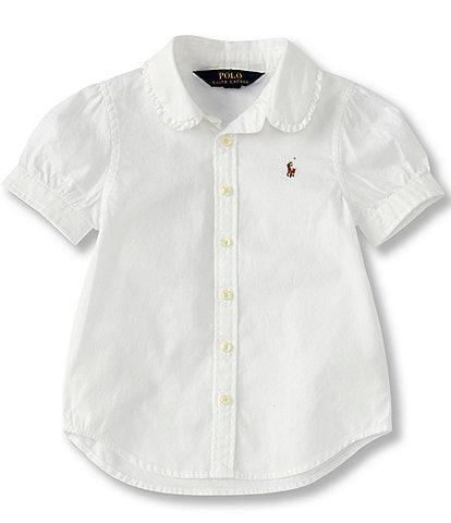 Polo Ralph Lauren Childrenswear Little Girls 2T-6X Oxford Button-Down Shirt