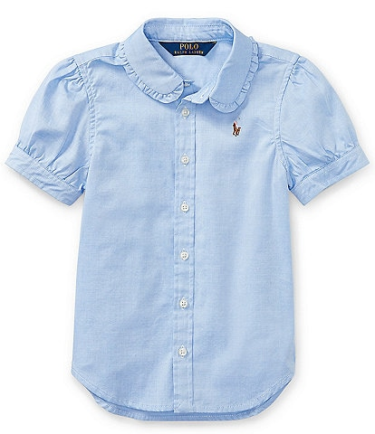 Ralph Lauren Childrenswear Little Girls 2T-6X Oxford Button-Down Shirt