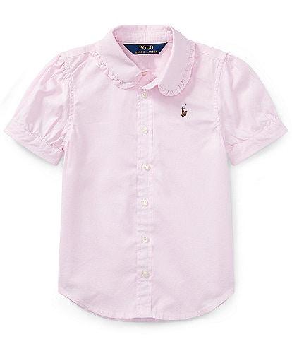 Ralph Lauren Childrenswear Little Girls 2T-6X Oxford Button-Down Shirt