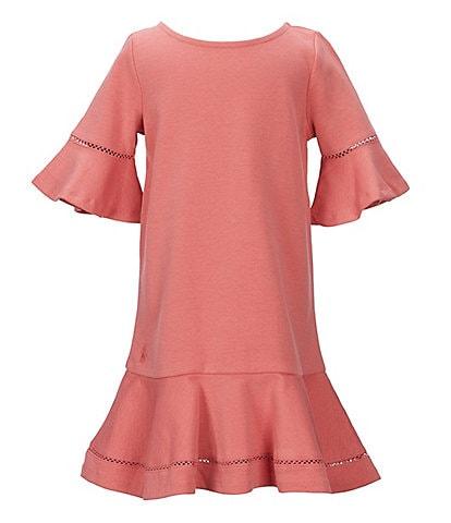 Ralph Lauren Childrenswear Little Girls 2T-6X Short-Sleeve Drop-Waist Dress