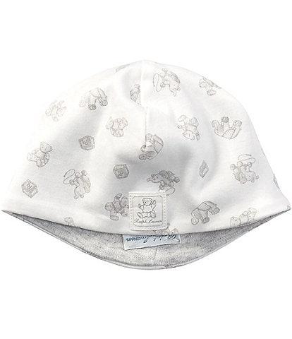 Ralph Lauren Childrenswear Newborn Baby Mixed-Media Beanie Hat