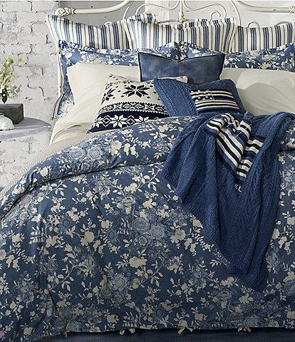 Ralph Lauren Indigo Cottage Floral Comforter
