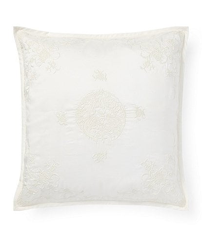 Ralph Lauren Isleboro Collection Bromford Embroidered Square Pillow