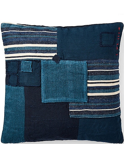 Ralph Lauren Journey's End Collection Stover Patchwork Square Pillow