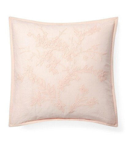 Ralph Lauren Olivia Collection Jaime Embroidered Square Pillow